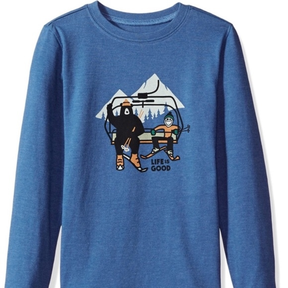 0d936f7acee Life is Good Other - Kids Life is Good Snow Ski Long Sleeve Tshirt